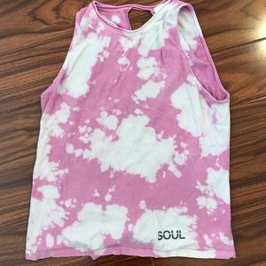 Pink Tie Dye Soulcycle Top